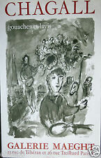 CHAGALL MARC  - AFFICHE ORIGINALE EXCEPTIONNELLE ANCIENNE COLLECTION GIUFFRIDA