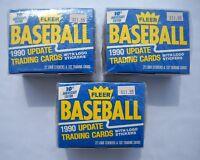 1990 Fleer Update Factory Sealed Baseball Traded Set Lot (3) Frank Thomas