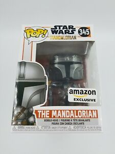 Funko Pop! Star Wars The Mandalorian Chrome Amazon Exclusive #345  (1214)