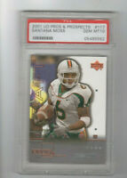 2001 UD Pros & Prospects Santana Moss Rookie Card PSA 10 GEM MINT! REDSKINS WR