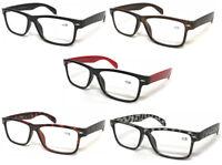 L142 Wayfarer Reading Glasses & Super Classic Fashion & Large Frame Nerd Glasses