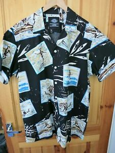 Mens Dickies Hawaiian / Floral Style Shirt - Large
