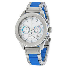 DKNY Chronograph White Dial Stainless Steel with Blue Silicone Mens Watch NY8762