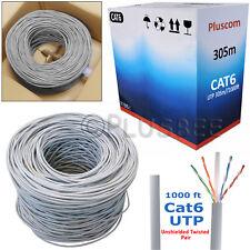 305M RJ45 Cat6 Network Ethernet Cable Roll UTP Outdoor Modem ADSL Internet Lead