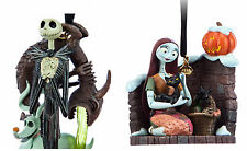 NIGHTMARE BEFORE CHRISTMAS JACK & SALLY TREE ORNAMENTS SET OF 2