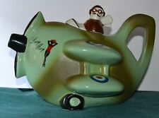 Carlton Ware Collectors Tea Pot With Lid 'Lucy May' Spitfire Aircraft & Pilot