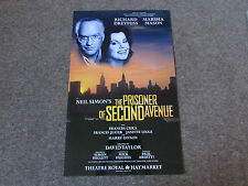 Richard DREYFUSS in PRISONER of SECOND Avenue Theatre ROYAL Haymarket Poster