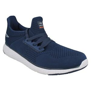 RSC0074 RED TAPE MENS NETTED TEXTURED MEMORY FOAM INSOLE LACE UP TRAINER SHOES