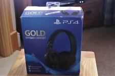 PS4 Gold Wireless Gaming Headset Ex Display Item In Box Missing The Dongle