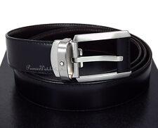 NEW Mont Blanc Contemporary Line 38158 Reversible Black/Brown Leather Men's Belt