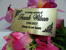 *Professionally Engraved SOLID BRASS Burial/Bench Plaque...UK FREEPOST!!!
