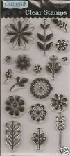 CRAFT AFFAIR Clear Stamps FANCY FLOWERS Leaves Stems Assorted Flowers