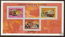 GUINEE REP 2004 FIRE FIGHTING FIRE ENGINES Sheet 3v MNH
