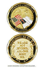 NEW Onward Christian Soldier Gold Military Challenge Coin. 2428.