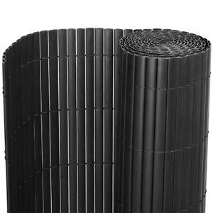 PVC Garden Fencing Roll Grey Screening Panels Fence Privacy Border Bamboo Effect
