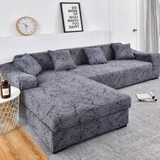 Geometric Elastic Sofa Cover Room Pets L Shaped Chaise Longue Sofa Slipcover 1PC