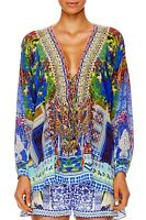 new CAMILLA FRANKS SILK SWAROVSKI BOHEMIAN BOUNTY LACE UP TOP KAFTAN layby