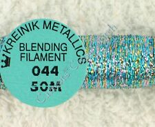 Kreinik Blending Filament 044 Confetti Blue Metallic Thread 50M Cross Stitch