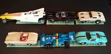 10 AURORA AFX SLOT CAR DISPLAY STANDS 1/64 HO SCALE NICE COLLORS