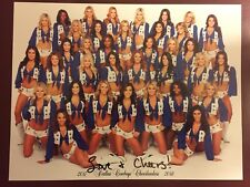 Official 2017-2018 Dallas Cowboys Cheerleaders DCC Team Picture Signed X2