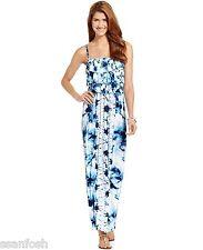 NWT STYLE & CO Petite S PS Nantucket Strapless Tank Tie Dye Maxi Dress