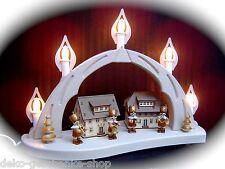 Arc Arc Lumineux 3D avec 4 figurines Bergmann Chapelle Erzgebirge 10623