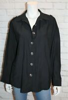 LUCY WANG Brand Black Oversized Collared Shirt Top Size L BNWT #SX100