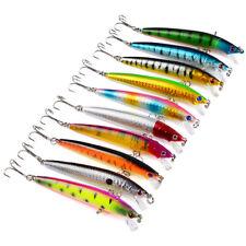 10PCS Lot Fishing Lures Fish Crankbaits Bass Minnow Baits Swimbait Tackle Hook