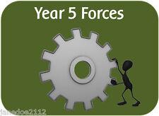 KS2 Y5 Science topic FORCES - teaching resources IWB display worksheets plans