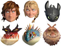 HOW TO TRAIN YOUR DRAGON 2 - OFFICIAL LICENCED CARD FACE MASKS - 6 TO CHOOSE