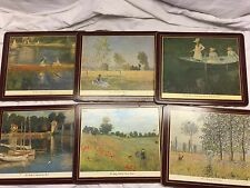 Set of 6 Vintage Lady Claire Claude Monet inspired Coaters  or trivets store#E5