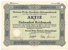 Motorenwerke Mannheim AG vorm. Benz Abt. stationärer Motorenbau  1932