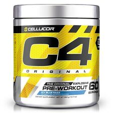 Cellucor C4 Original Explosive Pre-Workout Supplement, Icy Blue Razz,60 Servings