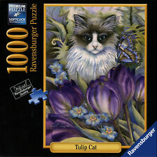 Ravensburger 1000 Piece Premium Jigsaw Puzzle - Tulip Cat