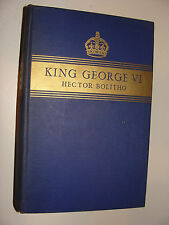 King George VI  by Hector Bolitho 1938 First Edition Hardcover  Royal biography