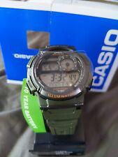 Casio Men's Quartz Illuminator Digital Green Resin Strap 45MM Watch AE1000W-3A