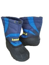KAMIK Little Boys Blue & Black Snow Boots Size 11