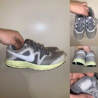 Nike Lunarfly 3 Mens Size 8 Gray Green Lace Up Running Breathe