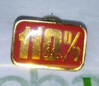 Vintage RARE 110% Percent Red GOLDEN Arches McDONALDS Button Pinback RARE Pin