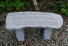 Stone Memorial Bench with Inscription 'I thought of you today...'