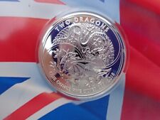 2018 GB Two Dragons coin .999 fine silver