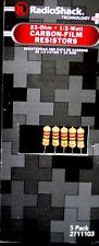 RadioShack® 22 ohm 1/2W 5% Carbon Film Resistor pk/5 No: 271-1103