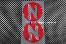 For 03~09 Nissan 350Z Z33 Red Carbon Fiber Side Fender Emblem Decals Cover