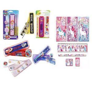 Kids 5 Piece Stationery School Set Pencil Case,Pencil,Ruler Gift 3+