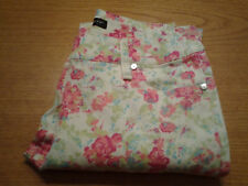 Women's Willi Smith Size 2 XS White Pink Floral Slim Skinny Jeans Ships Free!!