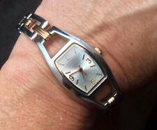 Pretty Dressy Ladies Quartz Watch With Two Tone Bracelet New Battery Works