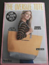 Simply sewing the oversize tote bag pattern uncut