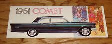Original 1961 Mercury Comet Foldout Sales Brochure 61 Sedan Station Wagon