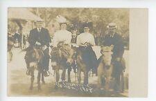 Men & Women on Donkeys Cheyenne Canon RPPC Antique Colorado Springs Photo 1910s