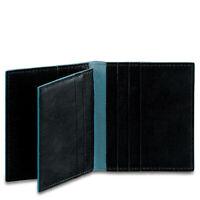 PIQUADRO Credit card case Blue Square Nero PP1518B2-N